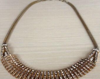 Esha Randel Art Deco Necklace Gold Tone
