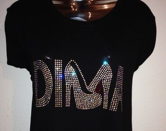 Rhinestone DIVA with Free Shipping