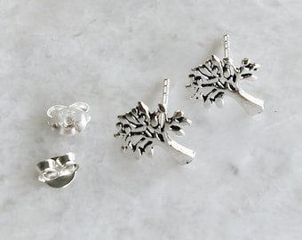 Sterling silver tree studs, Silver tree of life studs, Tree of life earrings, Boho ear studs, Bohemian studs (ES267)