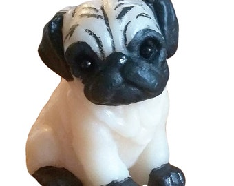 Pug Puppy Dog Candle