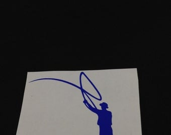 Fly Fisherman Decal 2.5x4