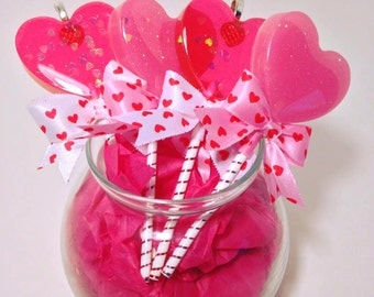 Valentine's Edition Lollipop Heart Candy Necklace