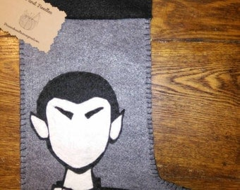 Spock, Star Trek inspired Christmas stocking