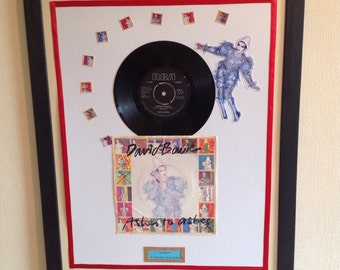 """David Bowie Ashes to Ashes framed original 1980 7"""" vinyl & sleeve"""