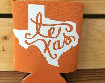 Texas Can Holder// Can Cozy// Texas// Texas tailgate