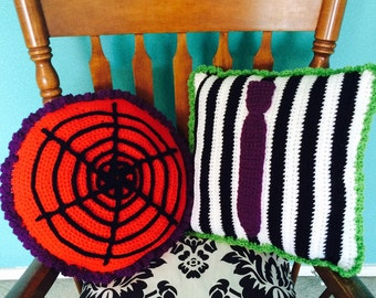 Beetlejuice and Lydia Inspired Pillow Set