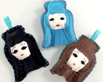 Felt Chola Ornament   Felt Decoration   Felt Ornament   Chola   Chingona   Flair   Chula   Felt Chola Doll   Cholitas   Custom Felt Flair
