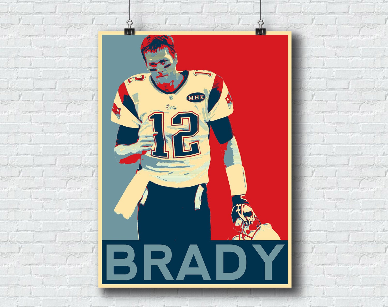 Tom Brady Print - New England Patriots - NFL Print Sports Poster Printable Wall Art Home