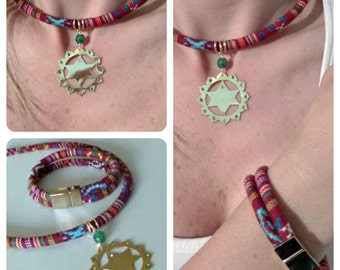 HEART CHAKRA, necklace and bracelet