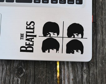 The Beatles decal, Beatles heads decal, English Rock Music, Vinyl Decal, laptop decal, vinyl decals, macbook decal, wall sticker, car decal