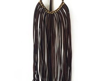 Long necklace boho fringe BROWNSTAR