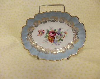 Pretty Old Foley James Kent Fluted Edge Dish with Floral Design