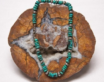 Turquoise and Sterling Silver Necklace FREE SHIPPING