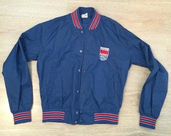 Sacramento Kings Chalk Line vintage jacket size Youth medium blue