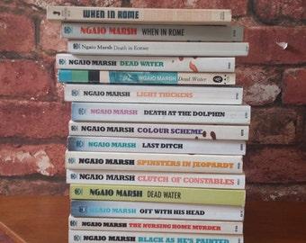 VINTAGE Ngaio Marsh Book Bundle - 15 books - Novel