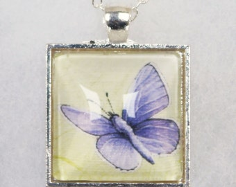 Common Blue Butterfly pendant