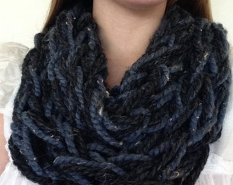 Long Knitted Infinity Scarf