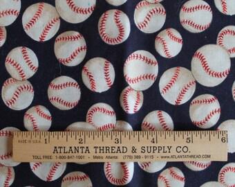 Baseball by Alexander Henry Cotton Fabric Fat Quarter 18 X 22