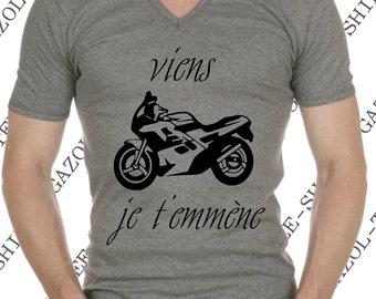 "T-shirt ""come I you take"" T-shirt humor biker gift idea."