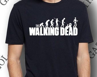 The walking dead évolution. T-shirt coton cadeau original halloween.