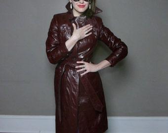Etienne Aigner Leather Trenchcoat