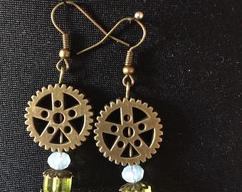 Steampunk jewel earrings