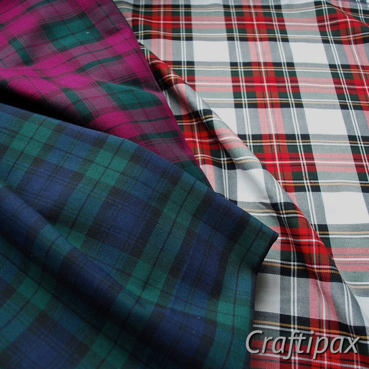 Fat quarters of tartan fabric three of the most popular for Most popular fabric patterns