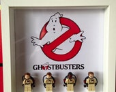 Ghostbusters Minifigure Display Frame, LEGO Compatible
