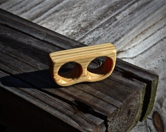 Two Finger Yellow Pine Ring