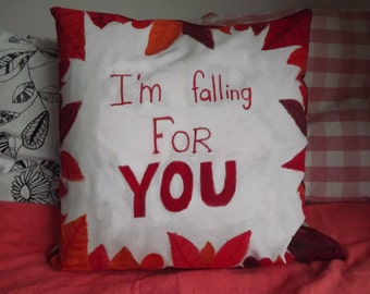 Handmade autumn pillow case