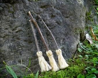 Miniature Twig Fairy Broom, Witch Broom