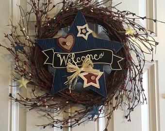 Parriotic Twig Wreath