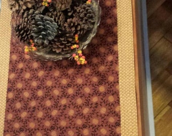 Thanksgiving Table Runner with Pumpkin Theme