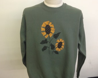 Sunflower Applique Sweatshirt