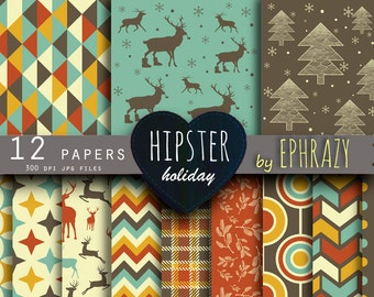 30% OFF AND MORE. Christmas digital paper. Christmas paper. Hipster paper. Christmas digital. Christmas sheet. Digital paper