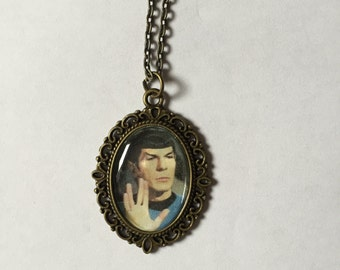Doctor Spock Star Trek Cameo Necklace