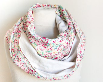 Snood doubled white