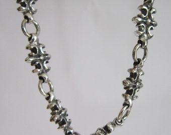 FLEUR DE LIS   Necklace Sterling Silver
