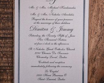 Cursive Wedding Invitation, Calligraphy Invitation, Flowy Wedding Invitations, Timeless Invitations, Calligraphy Wedding Invitation, Invites
