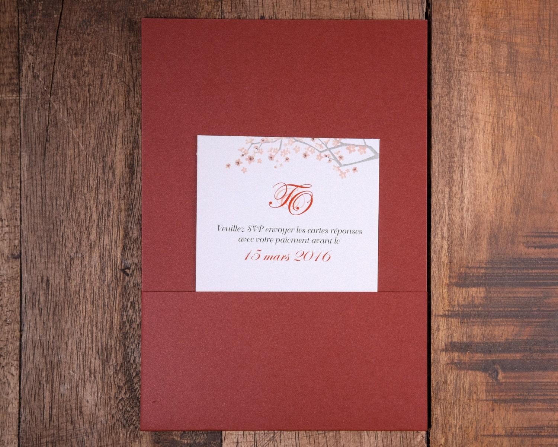 Red Invitation, Red Invitations, Red and white Wedding Invitation ...