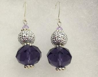 Fantasy Swarovski Crystal silver earrings