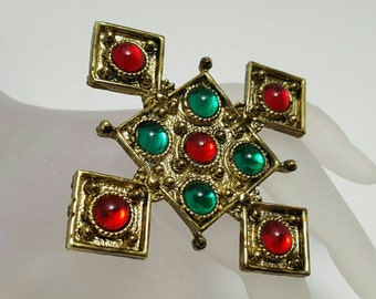 Colorful Cross Pin