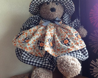 Handmade and dressed teddy bear  *NOW REHOMED!!!!!!!!!*