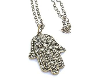Hamsa Pendant Necklace
