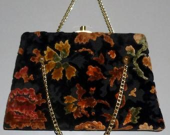 Vintage 1950's / 1960's Dova USA Chenille Kelly Bag