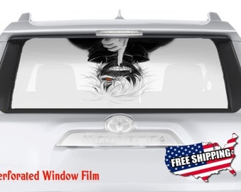 Canadian Flag Leaf Canada Full Color Print Perforated Film - Rear window decals for trucks canada