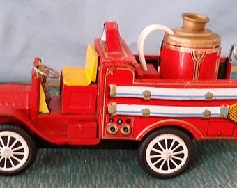 Vintage, Tin Fire Truck