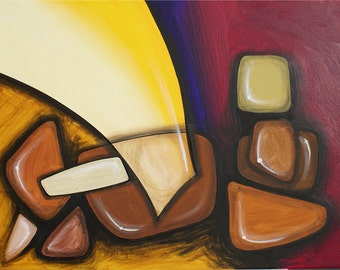 Original Abstract Art, Series R: Stones 3