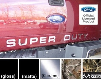 Ford SUPER DUTY Letter Inserts (thin) for Tailgate (2008-2016) F250 F350 F450 Decals Stickers  (Many Colors/Patterns Available) -C