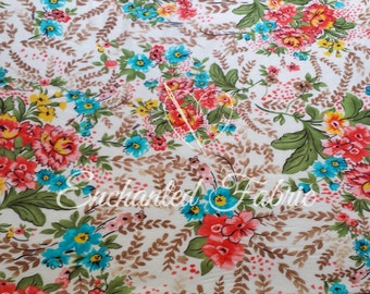 Floral Printed Rayon Jersey Knit Fabric for Maxi Dresses, Maternity apparel, Maxi skirts, Infinity Dress fabric, Backdrops and more- 1901